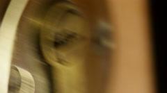 Key in door lock. - stock footage