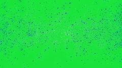 Blue pieces explosion on green screen Stock Footage