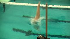 Girls diving team 19 Stock Footage
