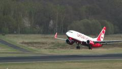 Stock Video Footage of Starting of an Air Berlin - Airline plane