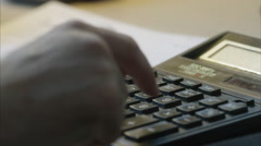 Using Calculator Stock Footage