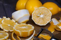 Low key lemons Stock Photos
