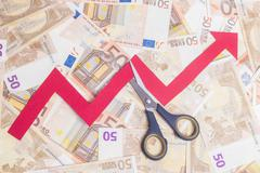 Stop increasing euro value - stock photo