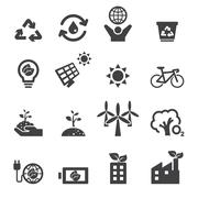 Save the earth icons Stock Illustration
