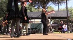 Scottish , festive dancers, Stock Footage