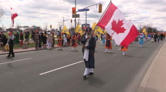 Toronto Sikh Khalsa Vaisakhi  Day Parade crowd of 100,000 people Stock Footage