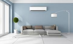 Living room with air conditioner Piirros