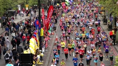 2015, London Marathon. Stock Footage
