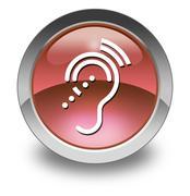 Icon, Button, Pictogram Hearing Impairrment - stock illustration