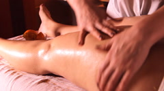 Stock Video Footage of massage orange, anti-cellulite leg massage