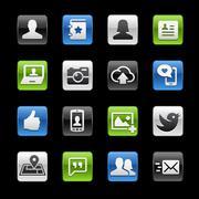 Social Web Icons -- Gelbox Series Piirros