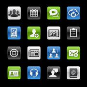 Business Technology Icons -- Gelbox Series Stock Illustration