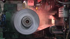 Rolling Aluminum with Steam Stock Footage