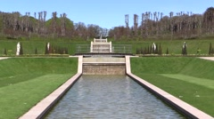The cascade in the Baroque Garden at the Frederiksborg Castle in Hilleroed Stock Footage