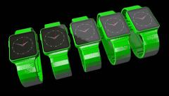 Smart phones transform into smart watches, 3D animation - stock footage