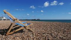 Brighton Beach, UK Stock Footage