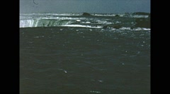Vintage 16mm film, Niagara falls 1960, #2 Stock Footage