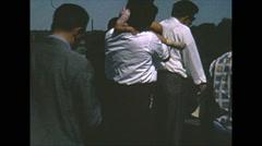 Vintage 16mm film, people at Niagara Falls, nice fashions, 1960 Arkistovideo