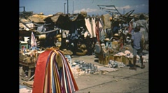 Vintage 16mm film, 1951, Port-au-Prince market, 2-shot Stock Footage
