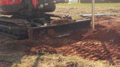 Bulldozer Pushing Dirt - stock footage