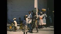 Vintage 16mm film, Port-au-Prince market, 1951 2-shot #2 Stock Footage
