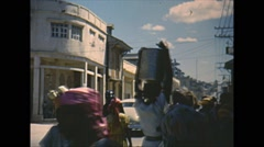 Vintage 16mm film, Port-au-Prince, market 1951 Stock Footage