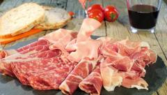 Italian Cured Meat Platter Stock Footage
