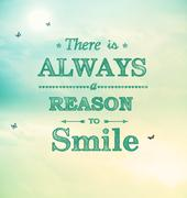 There is always a reason to smile! - stock illustration