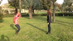 Stock Video Footage of girls playing volley