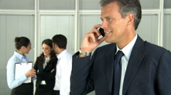 Stock Video Footage of Leadership at phone