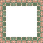 Ornamental Frame for photo with abstract elements - stock illustration