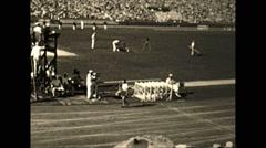 Vintage 16mm film, 1932 Summer Olympics run, rare footage Stock Footage