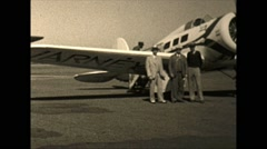 Vintage 16mm film,Lockheed Model 9 Orion varney speed airline airplane, 1932 Stock Footage