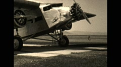 Vintage 16mm film, united airlines ford trimotor, 1932 4-shot, rare footage Stock Footage