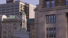 Borough Hall in Brooklyn New York. - stock footage