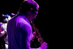 Man playing clarinet Stock Photos