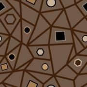 Abstract seamless brown geometric pattern. - stock illustration