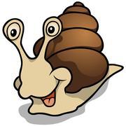 Cheerful Snail Stock Illustration