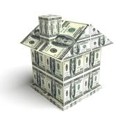 House from the money. Construction concept Stock Photos
