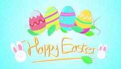 Happy Easter Card Colorful Animation 4K Stock Footage