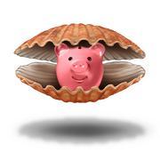 Savings Treasure Stock Illustration