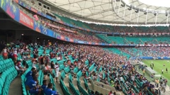 Crowed Arena Fonte Nova in Bahia, Brazil. Stock Footage