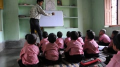 Class room of a Indian village school Stock Footage