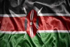 Shining kenyan flag Stock Photos