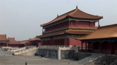 Forbidden City China Beijing Stock Footage