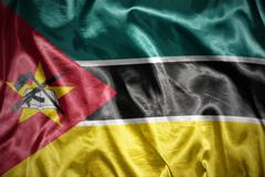 Stock Photo of shining mozambican flag