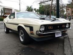 Ford Mustang Boss 351 built in 1971 Stock Photos