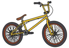 Small yellow bicycle Stock Illustration