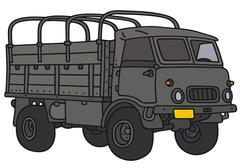 Old military truck Piirros