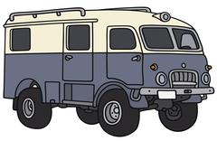 Old terrain vehicle Stock Illustration